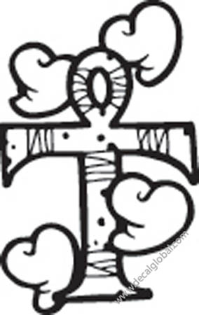 Cross Vinyl Graphic Decal 106