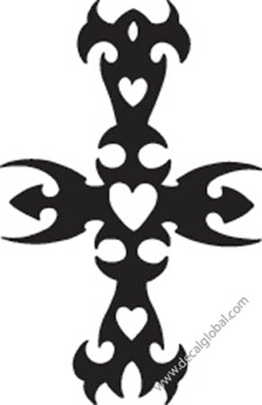 Cross Vinyl Graphic Decal 13