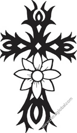 Cross Vinyl Graphic Decal 14