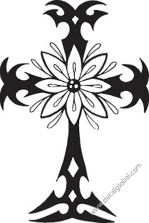 Cross Vinyl Graphic Decal 15