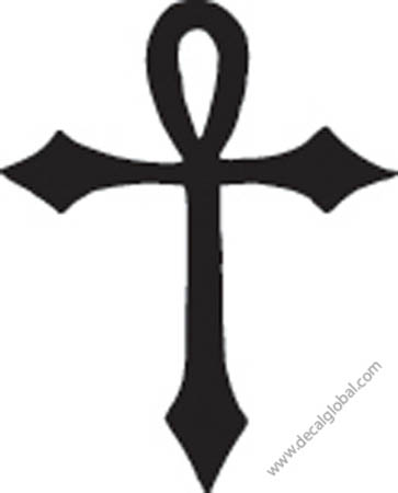 Cross Vinyl Graphic Decal 18