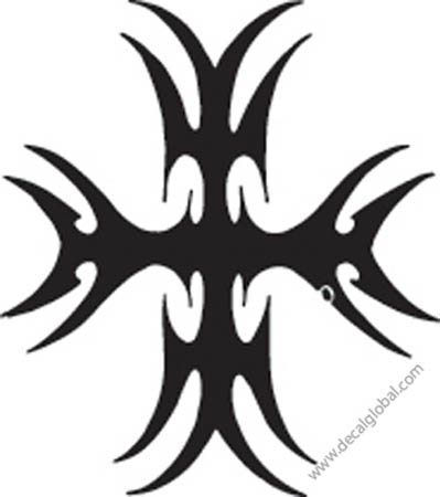 Cross Vinyl Graphic Decal 19