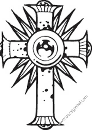Cross Vinyl Graphic Decal 21