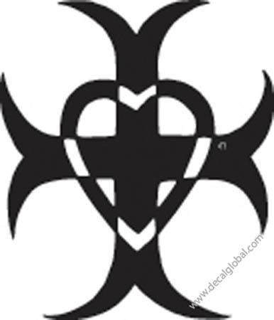 Cross Vinyl Graphic Decal 22
