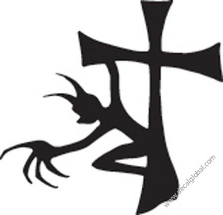 Cross Vinyl Graphic Decal 23