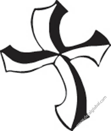 Cross Vinyl Graphic Decal 28