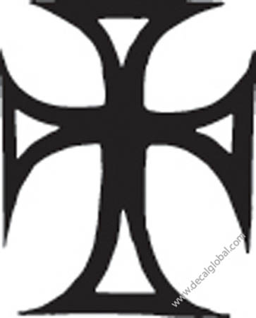 Cross Vinyl Graphic Decal 3