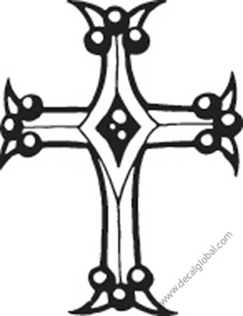 Cross Vinyl Graphic Decal 30
