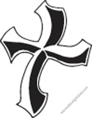 Cross Vinyl Graphic Decal 34