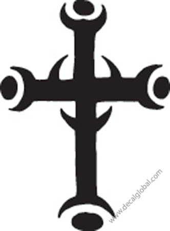 Cross Vinyl Graphic Decal 35