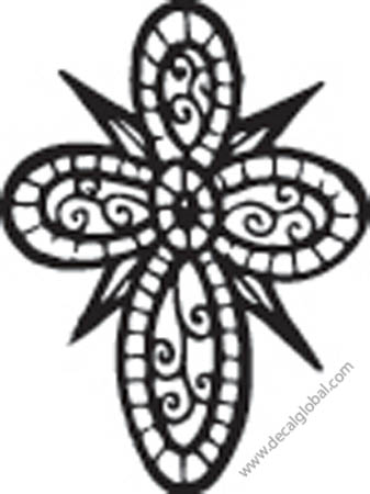 Cross Vinyl Graphic Decal 36