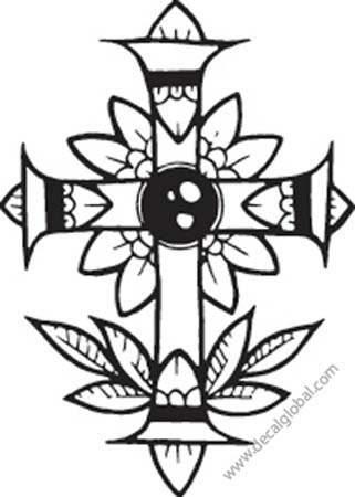 Cross Vinyl Graphic Decal 39