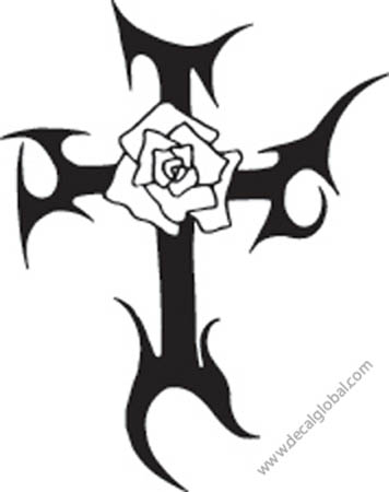 Cross Vinyl Graphic Decal 7