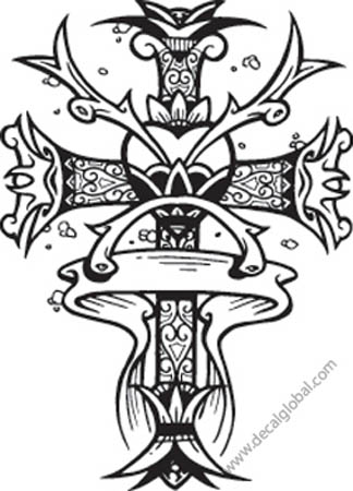 Cross Vinyl Graphic Decal 79