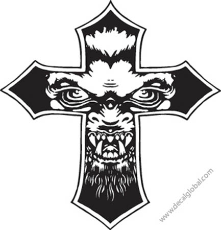 Cross Vinyl Graphic Decal 80