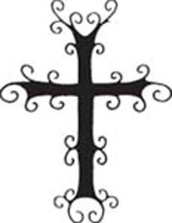 Cross Vinyl Graphic Decal 9