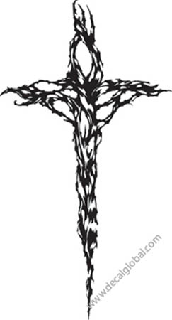 Cross Vinyl Graphic Decal 97