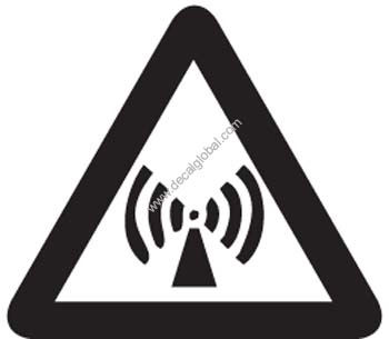 Wifi Sign - Danger Decal15