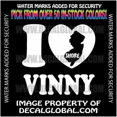"Mvp Jersey Shore. I LOVE VINNY JERSEY SHORE DECAL MVP NJ STICKER 5.5"" - eBay (item 160552130686 end time Apr-27-11"