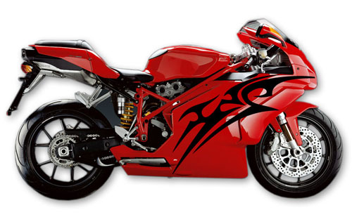 Street Bike Decal 11