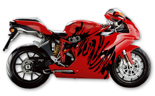 Street Bike Decal 12