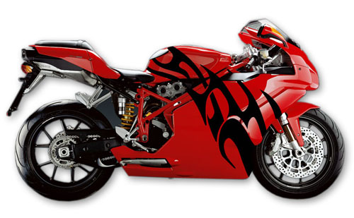Street Bike Decal 14