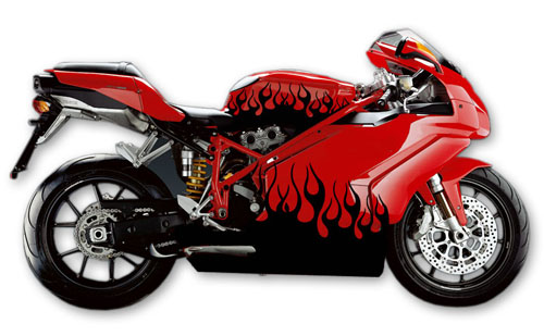 Street Bike Decal 16