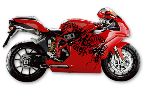 Street Bike Decal 1