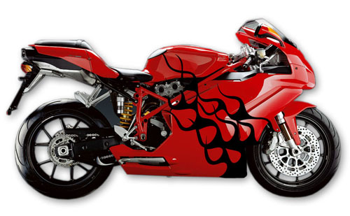 Street Bike Decal 2