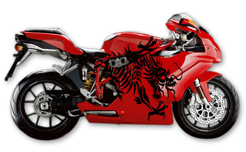 Street Bike Decal 3