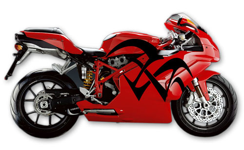 Street Bike Decal 7