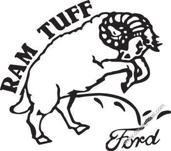 Ram Tough - Peeon Ford & Chevy Decal (203)