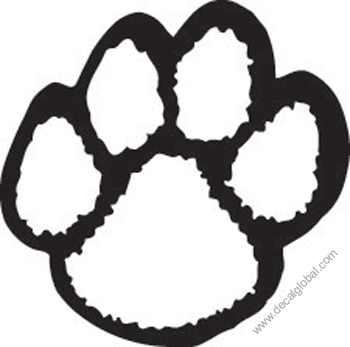 Paw Print Decal (212)
