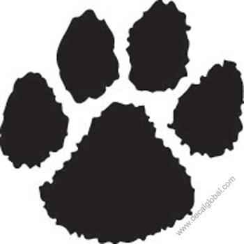 Paw Print Decal (213)