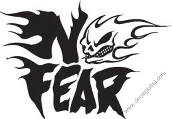 No Fear head Decal (215)