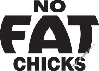 No Fat Chicks Decal (379)