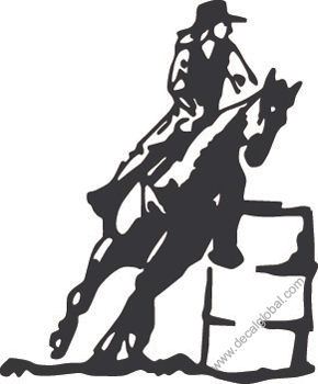 Cowboy On Horse Decal 4