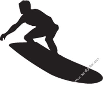 Surfer Extreme Sport Decal 82