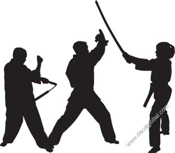 Fighting Silhouette Decal 14