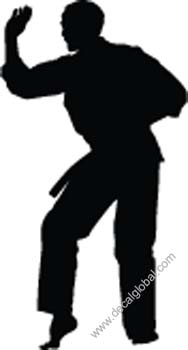 Fighting Silhouette Decal 16