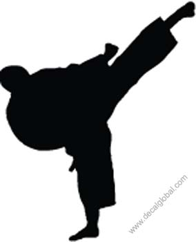 Fighting Silhouette Decal 57